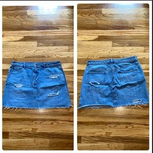 Old Navy Ripped Jean Skirt